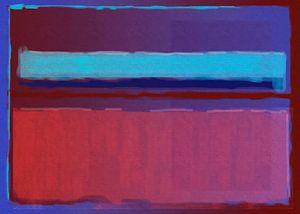 Peinture abstraite du bleu au rouge
