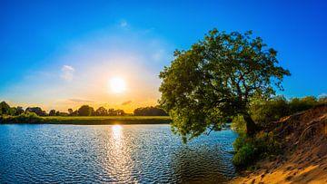 Sonnenuntergang an der Ems von Günter Albers