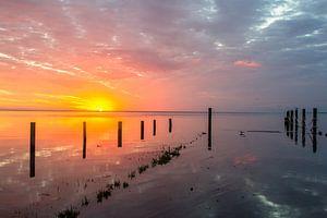 zonsopkomst aan de waddenzee