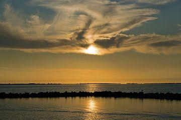 Sonnenuntergang auf der Grevelingen von Judith Cool
