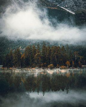 Eibsee in de mist van Stefan Schäfer