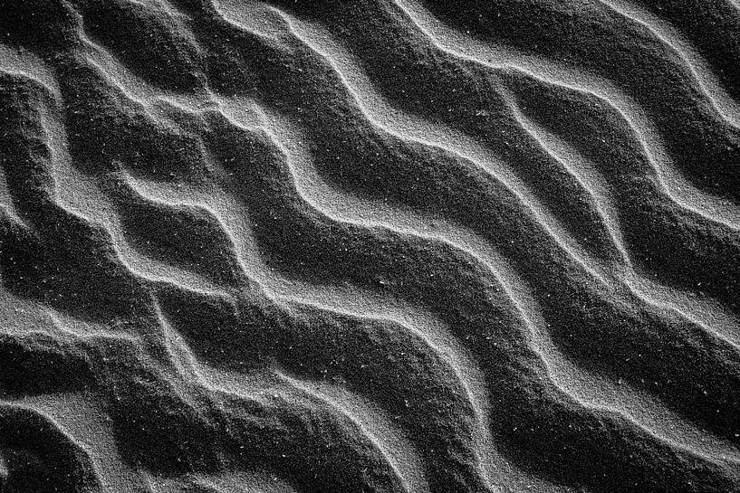 Sandkräuselungen am Strand von Olaf Oudendijk