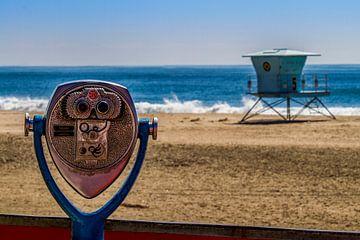 Verrekijker en strandwacht van Santa Monica van Easycopters