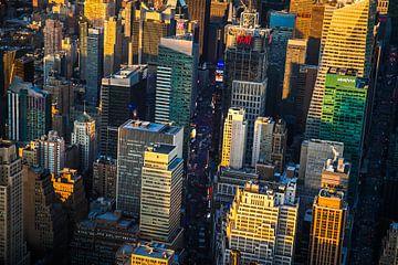 Times Square vanuit de lucht van Andre Kwakernaat