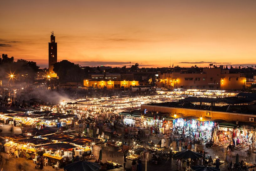 Marrakech, Djemaa el Fna... van Jan Schuler