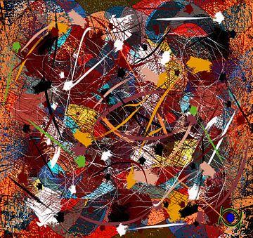 abstracte kleurrijke kunst hedendaags van EL QOCH