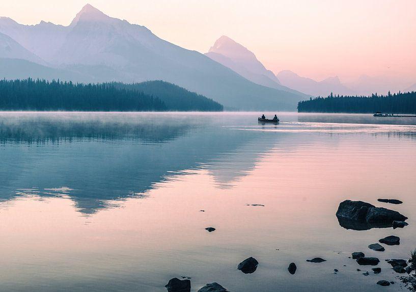 Maligne Lake van Jip van Bodegom