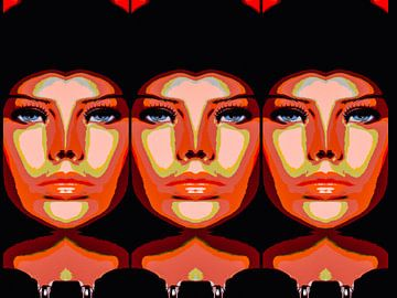 Triple Faces van novaradalima.art - Ellen Novara-da Lima