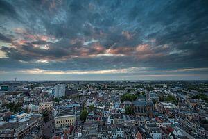 Zonsondergang stad Utrecht vanaf de Domtoren!