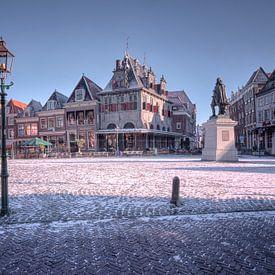 Roode Steen met sneeuw van Jan Siebring