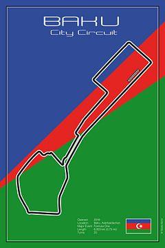 Racetrack Baku van Theodor Decker