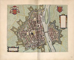 Maastricht Limburg, Stadtplan Joan Blaeu 1652