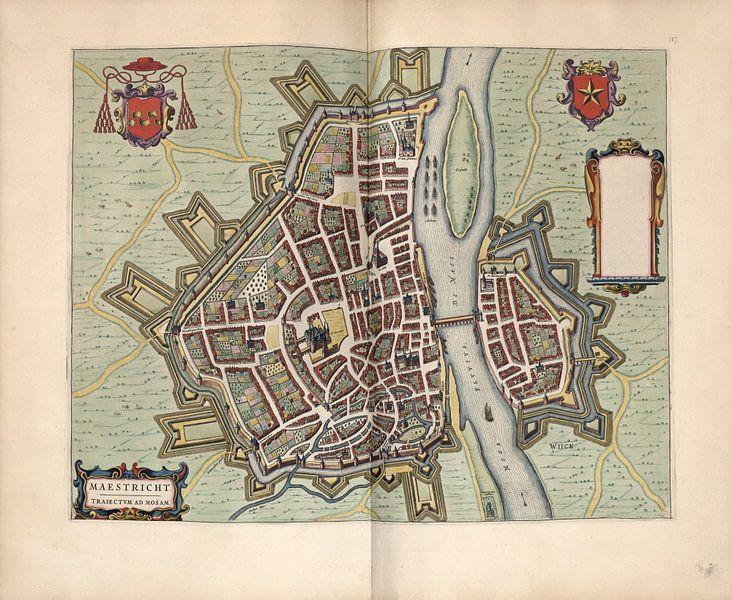 Maastricht Limburg, Stadtplan Joan Blaeu 1652 von Atelier Liesjes
