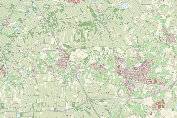 Kaart vanGeldermalsen van Rebel Ontwerp