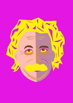 Popart-Bild von Albert Einstein von Atelier Liesjes
