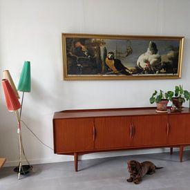 Kundenfoto: Vögel auf einer Balustrade - Melchior d'Hondecoeter, auf leinwand