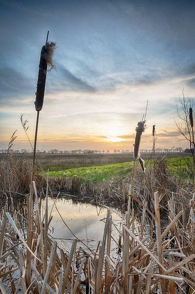 Zonsondergang in Nederland van Mark Bolijn