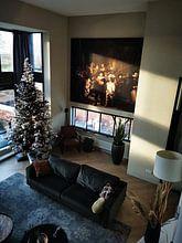 Kundenfoto: Die Nachtwache, Rembrandt van Rijn, als akustikbild