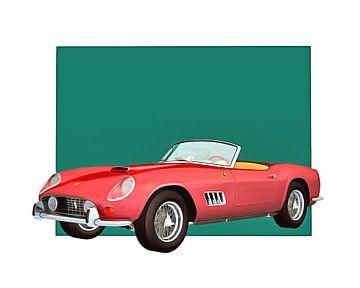 Klassieke auto – Oldtimer Ferrari 250GT Spider California