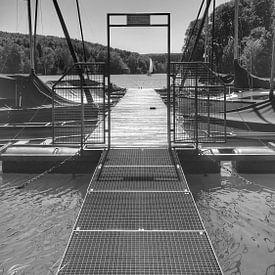 Bootssteg am See von Andrea Meister