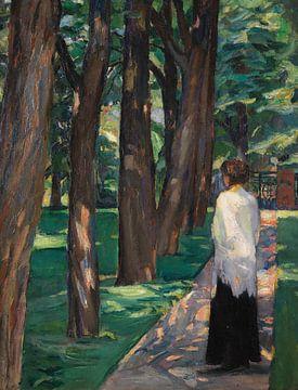 Dame im Park, ALBERT WEISGERBER, 1910