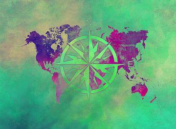 Weltkarte 13 #Karte #Weltkarte von JBJart Justyna Jaszke