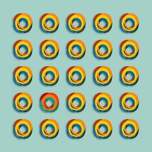 Gekleurde ringen van