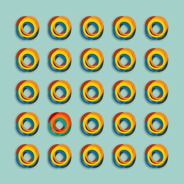 Gekleurde ringen van Marion Tenbergen