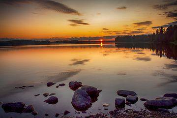 Coucher de soleil d'août sur Torfinn Johannessen