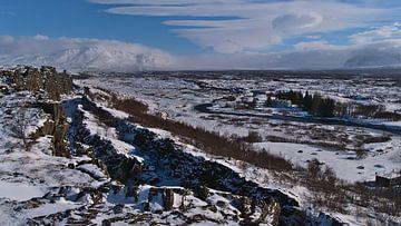 Þingvellir in de winter van Timon Schneider