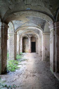 Grauer verlassener Korridor. von Roman Robroek