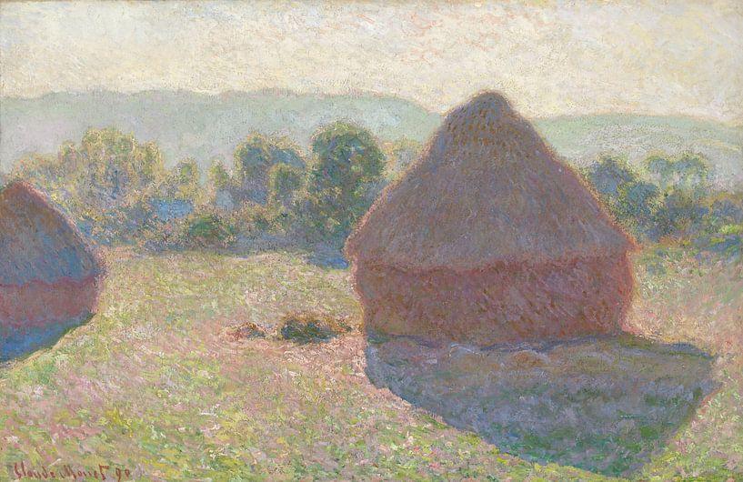 Heuhaufen, tagsüber, Claude Monet von Meesterlijcke Meesters