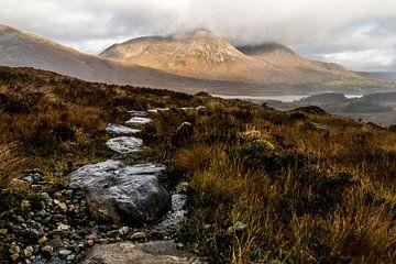 Landschapsfoto van Beinn na Caillich, vanaf Bla Bheinn trail, Isle of Skye, Highlands, Schotland van