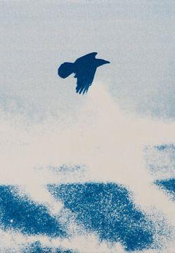 Vrije vogel - woeste zee van Remke Spijkers