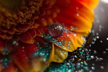 Glitters en waterdruppel van Bernardine de Laat