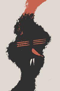 Rode Chili neus van dcosmos art