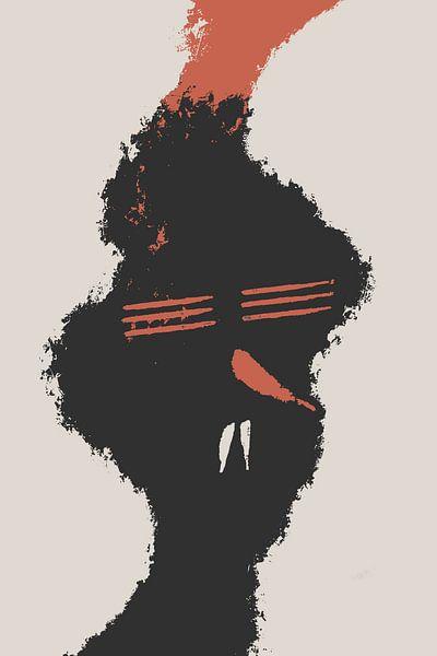 Rote Chili-Nase von dcosmos art