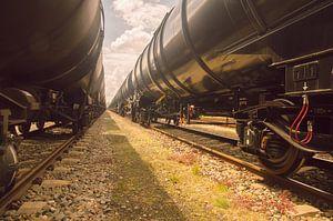 Lijnen van wagons