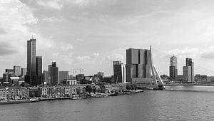 Het uitzicht op de Erasmusbrug, Wilhelminapier en de Maastoren