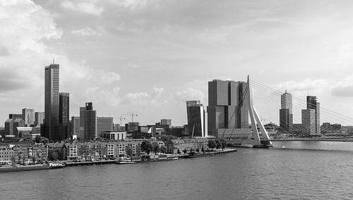 Het uitzicht op de Erasmusbrug, Wilhelminapier en de Maastoren van