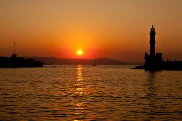 Zonsondergang in Griekenland van Andy Van Tilborg