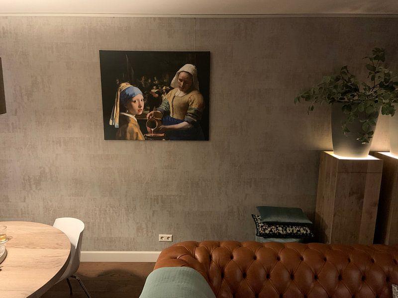 Photo de nos clients: la fille à la perle - La laitière - Johannes Vermeer sur Lia Morcus, sur toile