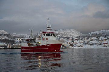 scandinavisch vissersbootje van Merijn Loch