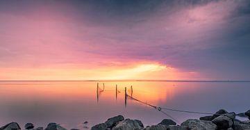 Sunset IJsselmeer von Martien Hoogebeen Fotografie