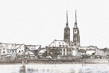 Kathedraal eiland Wroclaw van Gunter Kirsch