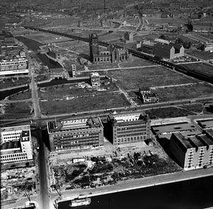 Rotterdam Centrum 1949 Laurenskerk van Roel Dijkstra