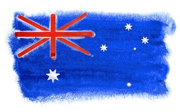 Symbolische nationale vlag van Australië van Achim Prill