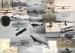 Classic flight collage