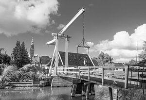 Monickendam brug in Zwart / wit van