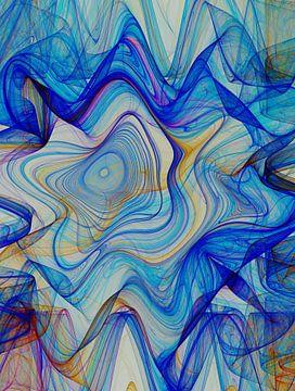 Composition abstraite 397 van Angel Estevez